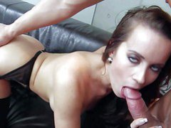 Lusty brunette milf Cindy Dollar with big tits and round