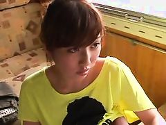 asian chick goes inside the house with a stranger
