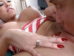 Rousing pecker sucking