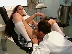 Dentist banged gorgeous brunette