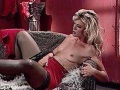 Gorgeous blonde satisfies foot fetish of stud
