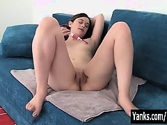 Small Breasted Livia Vibrating Her Pussy