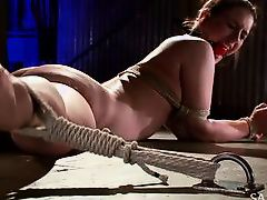 katharine cane gets tied down naked