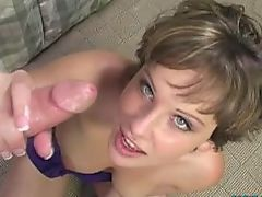 Katie St Ives Hand job, guy cums 3 times