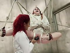 tied up lesbian gets orgasmic pleasures