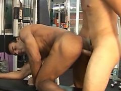 Riding dick in the gym