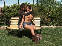 Yummy hottie Kaylani Lei has blowjob experience