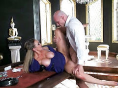 Extremely sexy slut Abbey Brooks with giant jugs
