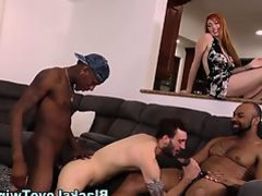 Dude jizzed by ebony rod