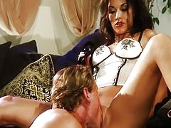 Passionate Alicia Angel controls him