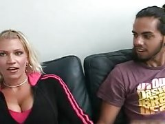 Busty golden-haired bitch purchases hungry showing
