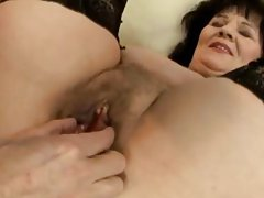 Infant GILF in   pussy lips rubbed with toys and fingered