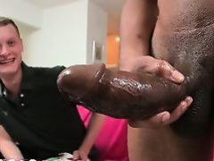 Blond boy riding fat brown penis have benefit from pro