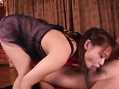 Japanese girl sucking shlong with longing